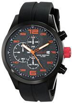 レッドライン 時計 red line Mens RL-50042-01OR Stealth Chronograph Black Textured Dial Black Silicone