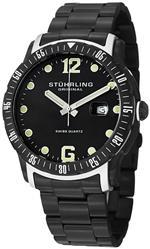 ストゥーリング 時計 Stuhrling Original Mens 421.335B1 Octane Concorso Trofeo Swiss Quartz Date Black