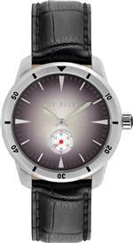 テッド ベーカー 時計 Ted Baker Mens TE1109 Dress Sport Silver Case Black Dial Black Strap Watch