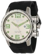 スイスレジェンド 時計 Swiss Legend Mens 30021-02S Ambassador Silver Dial Black Silicone Watch