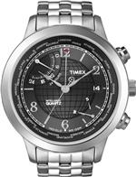 �������� ���� Timex Intelligent World Time Charcoal Dial Mens Watch T2N610