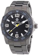 ティンバーランド 時計 Timberland Mens Quartz Watch with Black Dial Analogue Display and Grey