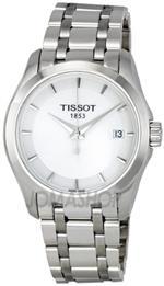 ティソ 時計 Tissot Womens T035.210.11.011.00 White Dial Couturier Watch