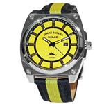 トミー バハマ 時計 Tommy Bahama Relax RLX1172 Stainless Steel Mens Analog Watch Black Yellow Fabrick<img class='new_mark_img2' src='//img.shop-pro.jp/img/new/icons7.gif' style='border:none;display:inline;margin:0px;padding:0px;width:auto;' />