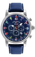 トミー バハマ 時計 Tommy Bahama RELAX Mens RLX1222 Beach Cruiser Blue Chronograph Flag Dial Watch