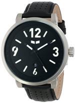 ベスタル 時計 Vestal Mens DPL002 Doppler Slim Silver and Black Watch