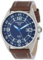 トーゲン 時計 Torgoen Swiss Mens T25103 T25 GMT Stainless-Steel Date Aviation Watch