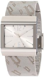 アイス 時計 Police Womens PL-10813BS/04M Virtue Silver Dial Stainless-Steel Mesh Bracelet Watch
