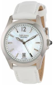 [ゴラナ スイス]Golana Swiss 腕時計 Aura Pro White MotherofPearl Dial Leather Watch AU100-7 レディース [並行輸入品]