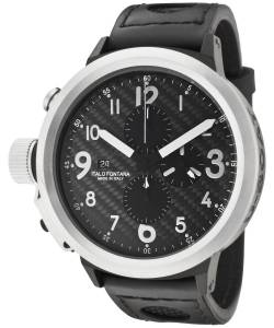 [ユーボート]U-Boat 腕時計 U Boat Flightdeck Black Carbon Fiber Black Leather Watch UBOAT-6120 メンズ [並行輸入品]