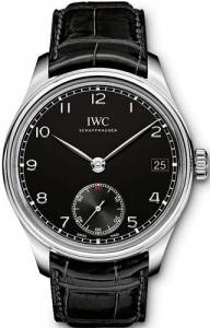 [アイダブルシー]IWC 腕時計 Portuguese Hand Wound Eight Days Black Leather Watch IW510202 メンズ [並行輸入品]