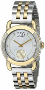 [イーエスキューモバード]ESQ Movado Classica Analog Display Swiss Quartz Two Tone 07101463