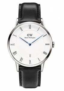 [ダニエル ウェリントン]Daniel Wellington 腕時計 Dapper Sheffield Silver 38mm Leather watch 1121DW ユニセックス [並行輸入品]