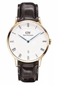 [ダニエル ウェリントン]Daniel Wellington 腕時計 Dapper York Rosegold 38mm Leather watch 1102DW ユニセックス [並行輸入品]