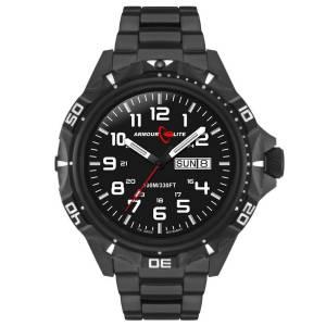 [アーマーライト]Armourlite 腕時計 Professional Series Black Steel Tritium Watch AL1402 [並行輸入品]