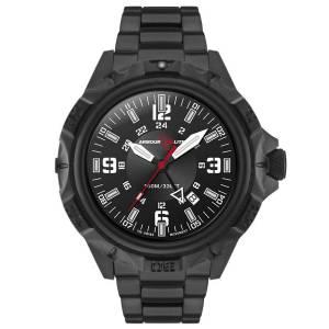 [アーマーライト]Armourlite 腕時計 GMT Professional Series Black Steel Tritium Watch AL1403 [並行輸入品]