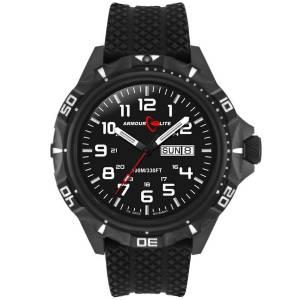 [アーマーライト]Armourlite 腕時計 Professional Series Black Steel Watch Black Rubber Band AL1412 [並行輸入品]