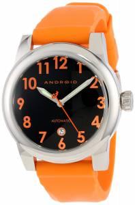 [アンドロイド]Android 腕時計 Amoeba Automatic Black Dial Orange Strap Watch AD495ARG メンズ [並行輸入品]