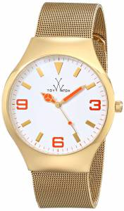 [トイウォッチ]Toy Watch 腕時計 Mesh Analog Display Swiss Quartz Gold Watch TOYMH11GD ユニセックス [並行輸入品]