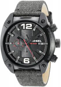 [ディーゼル]Diesel 腕時計 Overflow Analog Display Quartz Black Watch DZ4373 メンズ