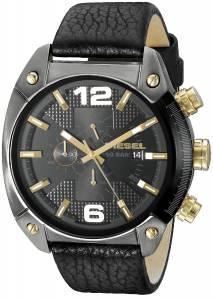 [ディーゼル]Diesel 腕時計 Overflow Analog Display Quartz Black Watch DZ4375 メンズ