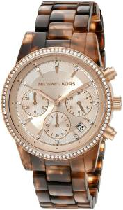 [マイケル・コース]Michael Kors  Ritz Analog Display Analog Quartz Brown Watch MK6280