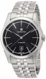 [ハミルトン]Hamilton  Spirit Of Liberty Black Dial Stainless Steel Watch H42415031 メンズ