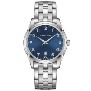 [ハミルトン]Hamilton  Jazzmaster Thinline Blue Dial Stainless Steel Watch H38511143 メンズ
