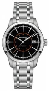 [ハミルトン]Hamilton  Railroad Automatic Black Dial Stainless Steel Watch H40555131 メンズ