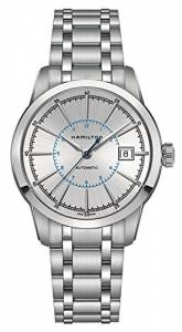 [ハミルトン]Hamilton 腕時計 Railroad Silver Dial Stainless Steel Watch H40555181 メンズ