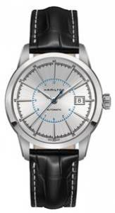 [ハミルトン]Hamilton  American Classic Railroad Silver Dial Black Leather Watch H40555781
