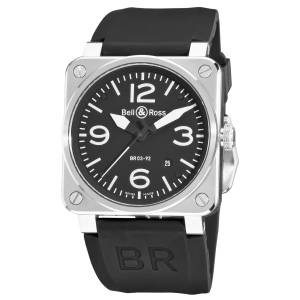 [ベルアンドロス]Bell & Ross  Aviation Black Arabic Numberal Dial Watch Watch BR-03-92-STEEL