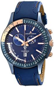 [ジャックルマン]Jacques Lemans UEFA Champions League Analog Display Quartz Blue Watch U-44A