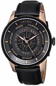 [ジェビル]Gevril  Columbus Circle RoseGold IonPlated Stainless Steel Watch 2004 メンズ