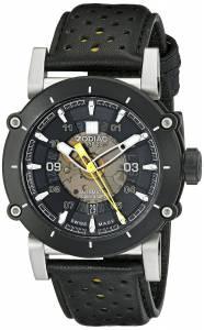 [ゾディアック]Zodiac ZMX2 Stainless Steel Watch with Black and Yellow Genuine Leather ZO8571
