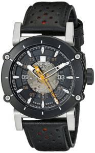 [ゾディアック]Zodiac  ZMX2 Black Stainless Steel Watch with Black and Red Band ZO8572