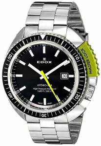 [エドックス]Edox  Hydro Sub Analog Display Swiss Quartz Silver Watch 53200 3NVM NIN メンズ