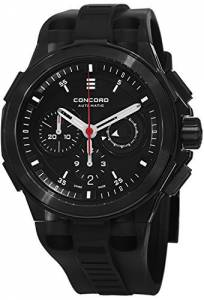 [コンコルド]Concord C2 Automatic Chronogrph Black Rubber Strap Black PVD Swiss Made 0320138