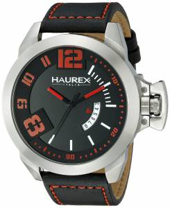 [ハウレックスイタリア]Haurex  Italy Storm Analog Display Quartz Black Watch 6A509URN