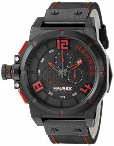 [ハウレックスイタリア]Haurex  Italy Space Stainless Steel Watch with Black Band 6N510URR