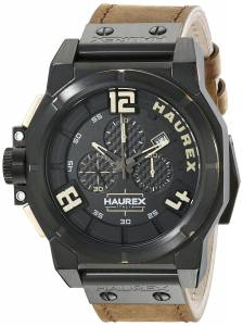 [ハウレックスイタリア]Haurex Italy Space Chrono Analog Display Quartz Brown Watch 6N510UNT