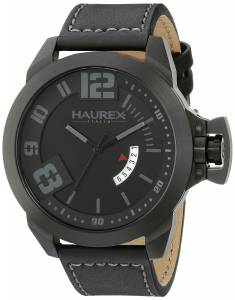 [ハウレックスイタリア]Haurex  Italy Storm Analog Display Quartz Black Watch 6N509UJN