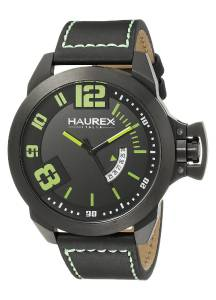 [ハウレックスイタリア]Haurex  Italy Storm Analog Display Quartz Black Watch 6N509UAN