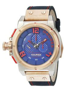 [ハウレックスイタリア]Haurex Italy Space Chrono Analog Display Quartz Blue Watch 6N510UBR