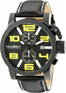 [ハウレックスイタリア]Haurex Italy TURBINA II Analog Display Quartz Black Watch 3N506UYN