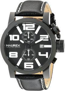[ハウレックスイタリア]Haurex Italy TURBINA II Analog Display Quartz Black Watch 3N506UWN