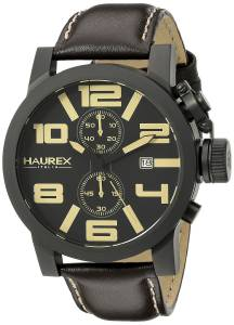[ハウレックスイタリア]Haurex Italy TURBINA II Analog Display Quartz Brown Watch 3N506UTM