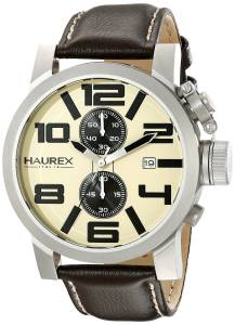 [ハウレックスイタリア]Haurex Italy TURBINA II Analog Display Quartz Brown Watch 3A506UTM