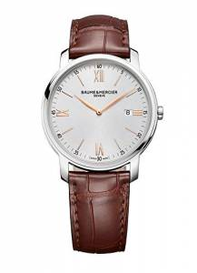 [ボーム&メルシエ]Baume & Mercier New Classima Silver Brown 42mm Quartz Watch 10144 MOA10144
