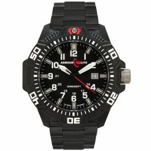 [アーマーライト]Armourlite Caliber Series Watch, Tritium Illumination, Black Steel Band AL623